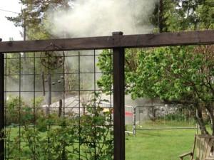 I rök å damm